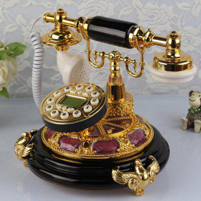 IDS8950 Antique Continental Pastoral Landline Jade Metal Retro Home Telephone
