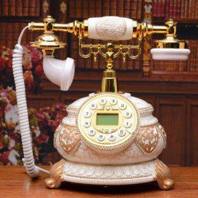 Ms610 Crack con incrustaciones Antique Telephone Office Home Landline Continental