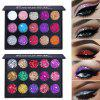 CmaaDu 15 Colors Shiny Diamond Waterproof Eyeshadow - MULTICOLOR-A