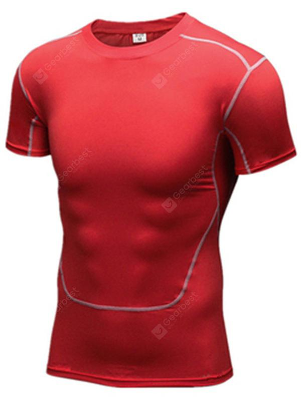 c0bc5a71e16 Sports Short-sleeved Men s Stretch Quick-drying T-shirt Tights Basketball  Football Bottoming Training Running Fitness Clothes -  10.95 Free Shipping  ...