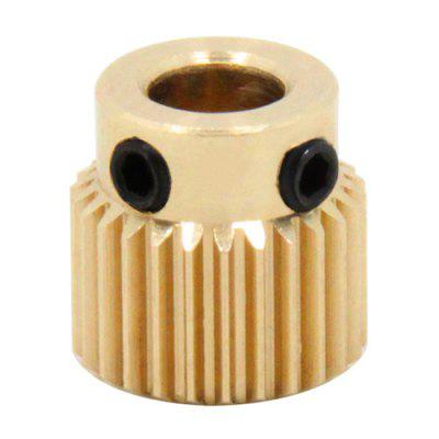 Copper Extrusion Head Gear 26 Tooth 3D Printers Accessories Parts 5pcs