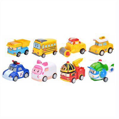 Retorno do carro robô 8 pcs