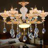 ZUNGE Z231 - 06 - D - QG - 1 6 Bedroom Dining Room Chandelier - GOLD