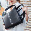Fashion Trend Leather Tote Bag from Xiaomi youpin - BLACK