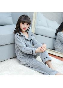 KH0055 Girls Flannel Comfortable Pajamas