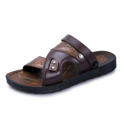 Men Beach Sandals Dual-use Male Slippers