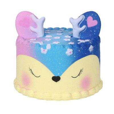 PA44 Starry Deer Cake Simulation Slow Rebound Decompression Vent Toy