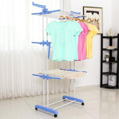 3 Layer Airfoil Style Foldable Clothes Laundry Drying Rack