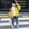 KH0034 Fashion Comfortable Color Matching Hooded Boy Jacket - YELLOW
