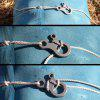 Outdoor EDC-apparatuur 3-gats Multipurpose Quick Knot Rope Buckle Tool (5st) - ZILVER