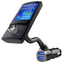Gearbest BC43 Color Screen Bluetooth Car Charger FM Transmitter