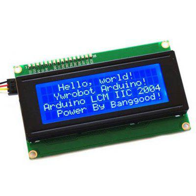 5V IIC / I2C LCD2004 Character LCD Display Module Blue Screen for Arduino Project Interface