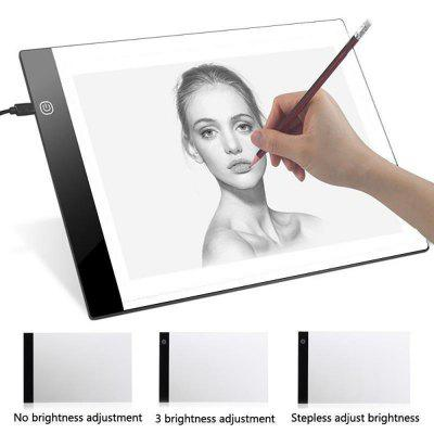 Digital LED Graphics Tablet A4 Anime Writing Platform Light Transmission Table Painting Board Tool Stepless dimming