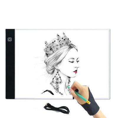Digital LED Graphics Tablet Anime Writing Platform Light Transmission Table Painting Board Tool 240*148 three-level dimmable