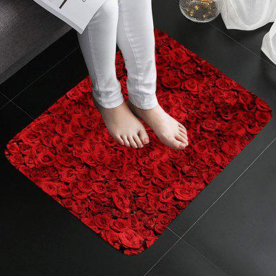 Shanghaojupin Rose Type Flannel Anti-slip Mat