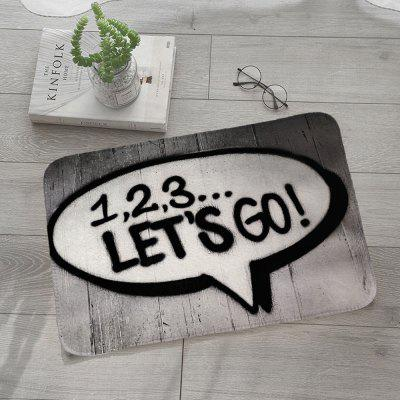 Shanghaojupin Simple Letters Flannel Anti-slip Mat Louisville Prices for the announcement