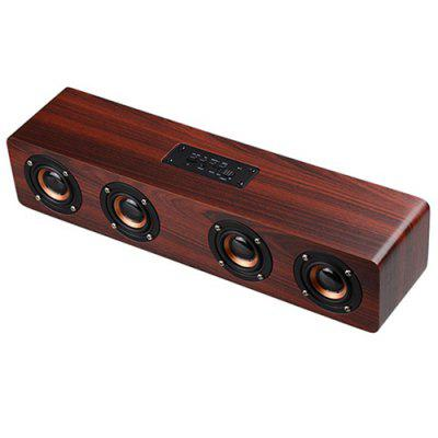 W8 Wooden Bluetooth Speaker Support Card FM Function