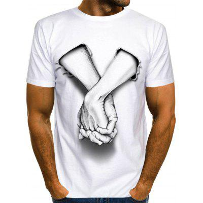 AT247 Personality 3D Digital Printing Men T-shirt