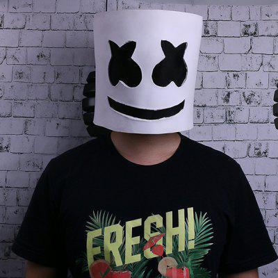 DJs LED Marshmello Casque Festival de musique Costume Party Full Face Latex Masque Performance Helm