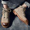 Men Trendy Fashion Tooling Boots - LIGHT KHAKI