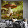 Shanghaojupin Mushroom House Flower Arazzo - MULTI COLORI-A