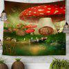 Shanghaojupin Mushroom House Cute Tapestry - MULTI COLORI-A