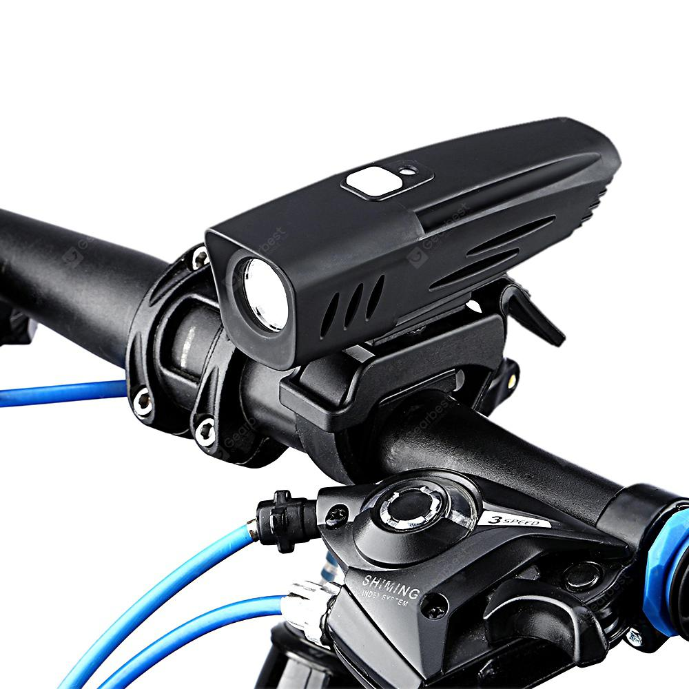 Utorch C10 USB Charging Light Sensation Control Bicycle Headlight - Black