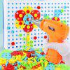 Children DIY Electric Drill Screw Assembly on Jigsaw Puzzle No Battery - MULTI-A