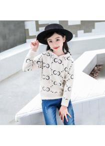 KH0077 Girls Hooded High-grade Faux Cashmere Sweater