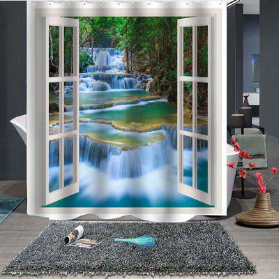 Outside Stream Fine Shower Curtain