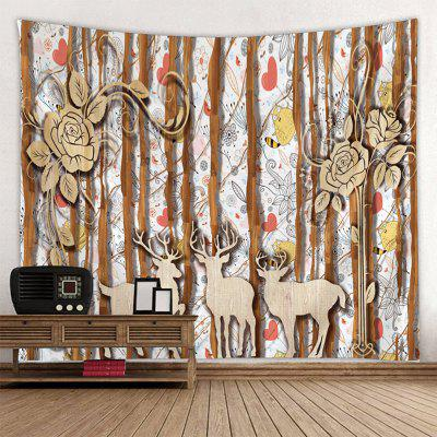 Shanghaojupin Simple Wood Forest Scenery Tapestry