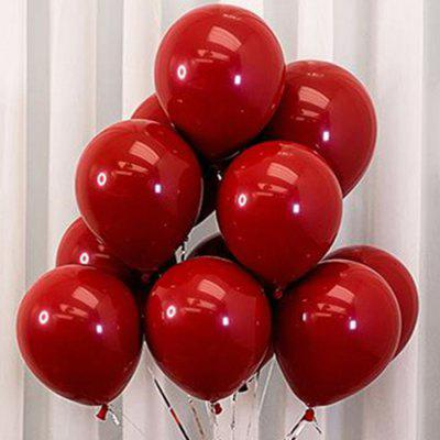 Double-layer 10 inch Ruby Latex Balloon Wedding Birthday Party Decoration 50pcs
