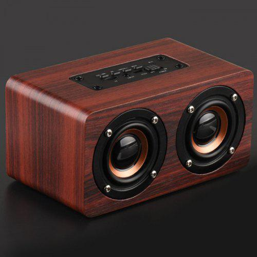 W5 10W Wooden Wireless bluetooth Stereo Speaker USB MP3 Player Dual Loudspeakers
