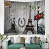 Shanghaojupin Still Good Retro Eiffel Tower Style Flower Tapestry - PLATINUM