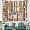 Shanghaojupin Simple Wood Forest Scenerie Tapestry - MULTI-A