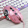 HXSJ X500 Wired Gaming Mouse Maximum 3200DPI 6 Buttons - LIGHT PINK