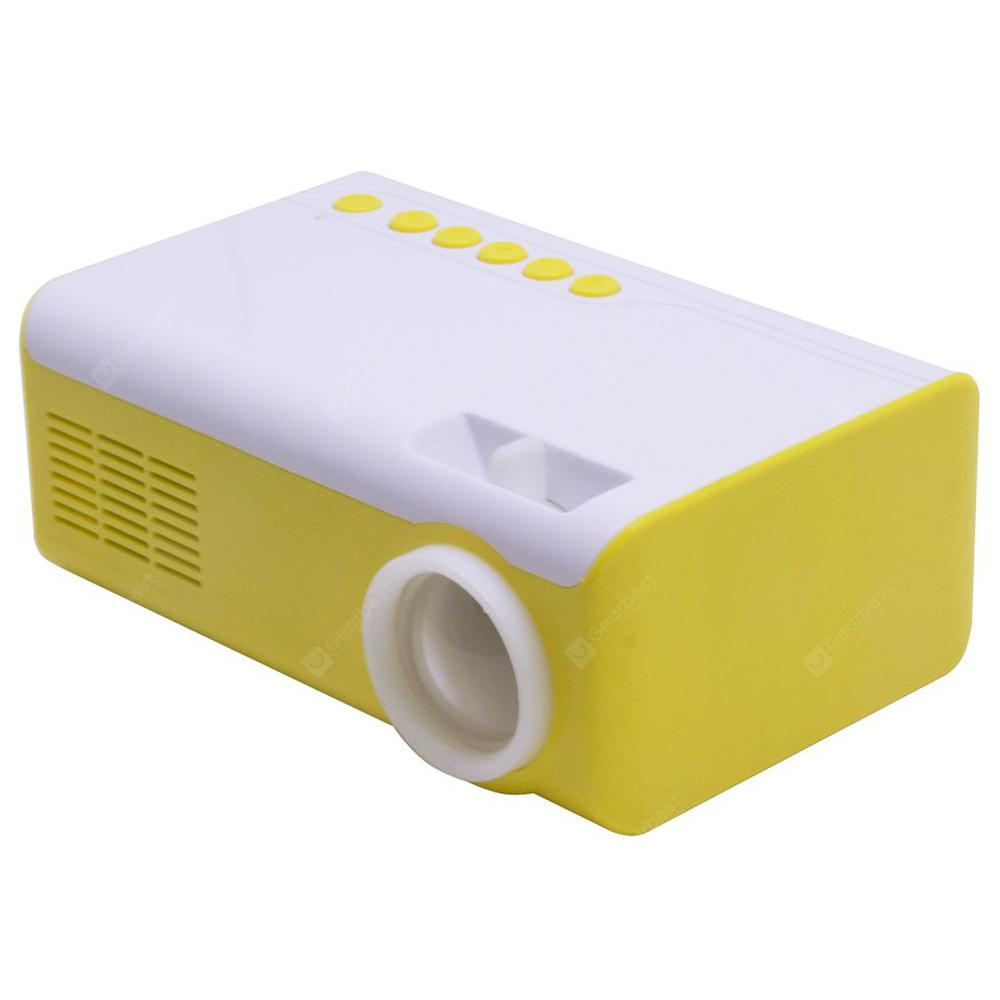HUIMI HML - 2010 LCD Home Office Smart Projector - Yellow EU Plug