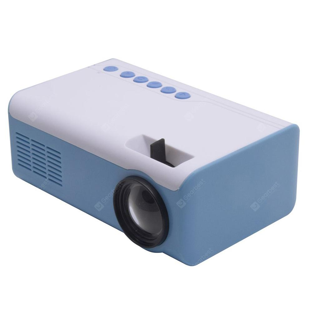 HUIMI HML - 2010 LCD Smart Home Office Projector - Pastel Blue EU Plug