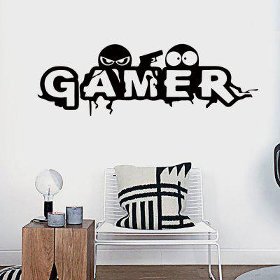 DX026 Cartoon Game Room Persoonlijkheid Engelse muursticker