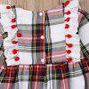 FT1725 Baby Girl Plaid Tassel Long Sleeve Robe + Hair Band Set - RED