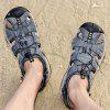 Men Stylish Outdoor Comfortable Leather Sandal - MIST BLUE