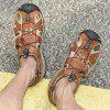 Men Stylish Outdoor Comfortable Leather Sandal - BROWN