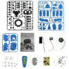 gocomma Upgraded 963 PRO DIY Assembly Electric Robot Induction Educational Toy - DODGER BLUE