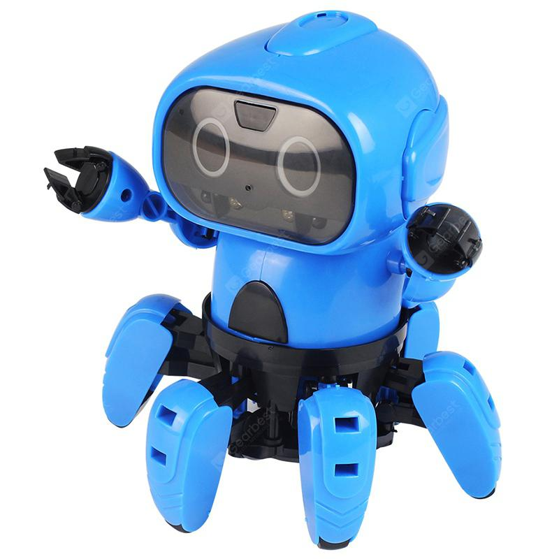 Gocomma Upgrade 963 DIY Assembly Electric Robot Induction Educational Toy - Dodger Blue