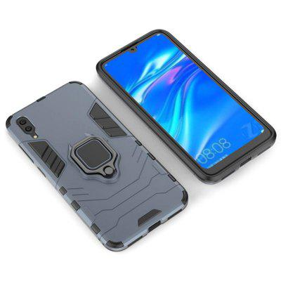 Buckle Frosted Shatter-resistant Protective Shell PC Phone Case with Ring for Huawei Enjoy 9