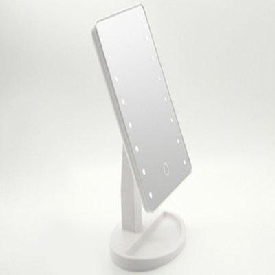 LED Desktop Storage 16 Light Makeup Mirror