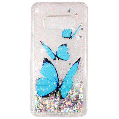 Simple Painted Pattern Quicksand Mobile Phone Case for Samsung Galaxy S10 E / S10 Lite