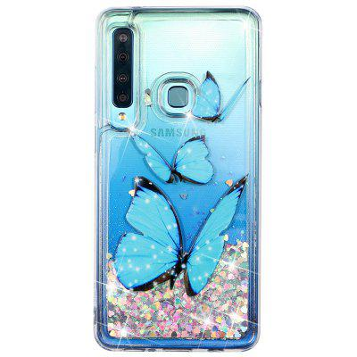 TPU Creative Painted Pattern Quicksand Mobile Phone Case for Samsung Galaxy A9