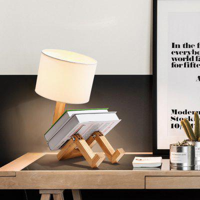 Living Room Study Bedroom Simple Modern Personality Wood Table Lamp