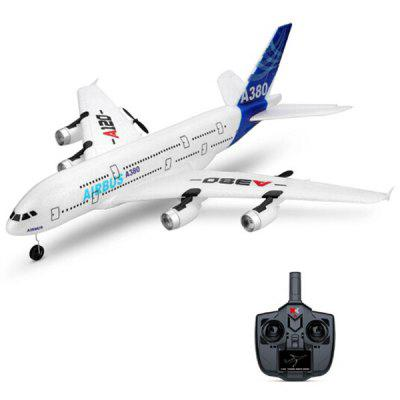 WLTOYS A120 - A380 Airbus 510mm Wingspan 2.4GHz 3CH RC Airplane Fixed Wing RTF Scale Aeromodelling with Remote Controller